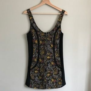Hurley // Fitted Mini Floral Watercolour Dress